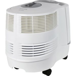 The front round part of the Honeywell HCM6009 humidifier faces the camera