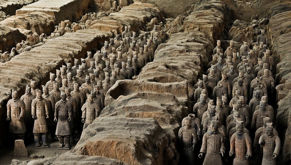 One of China's attractions, the Terracotta Warriors