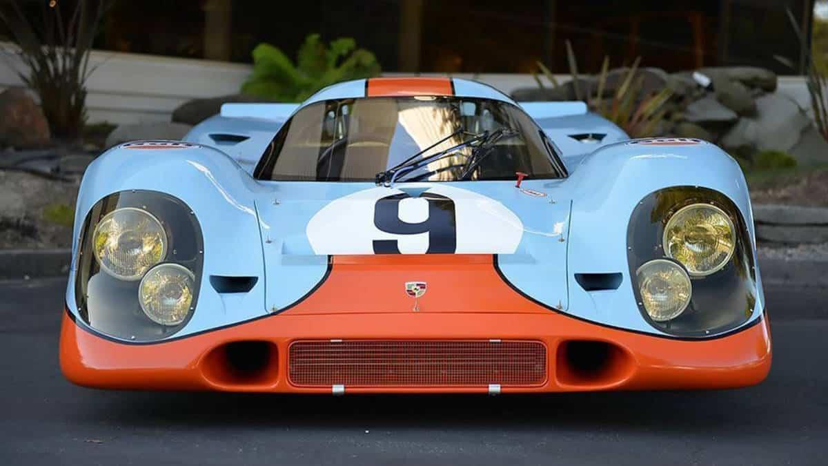 Blue and orange Porsche 917k