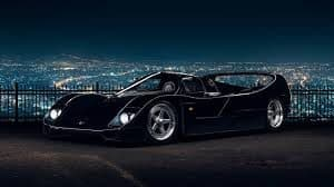 View of the Schuppan Porsche 962 CR at night