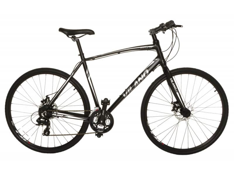 One of the best off road bikes under five hundred dollars, a black Vilano road bike