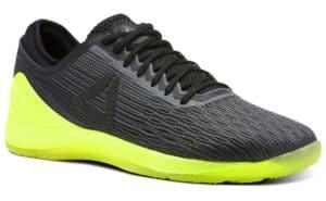 Green and black crossfit nano shoes