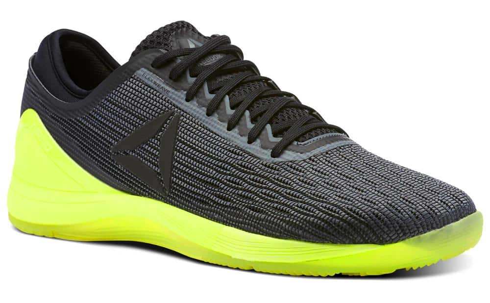 Green and black crossfit nano shoes
