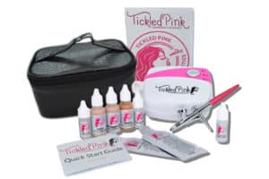 Airbrush makeup system with organic water-based makeup