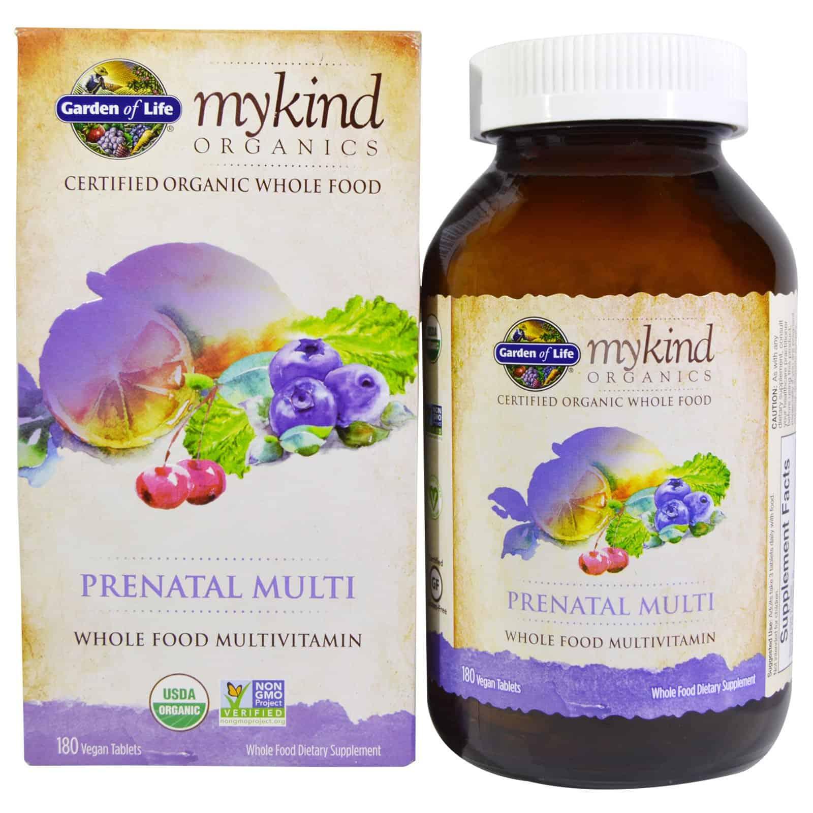 Garden of Life prenatal multivitamin