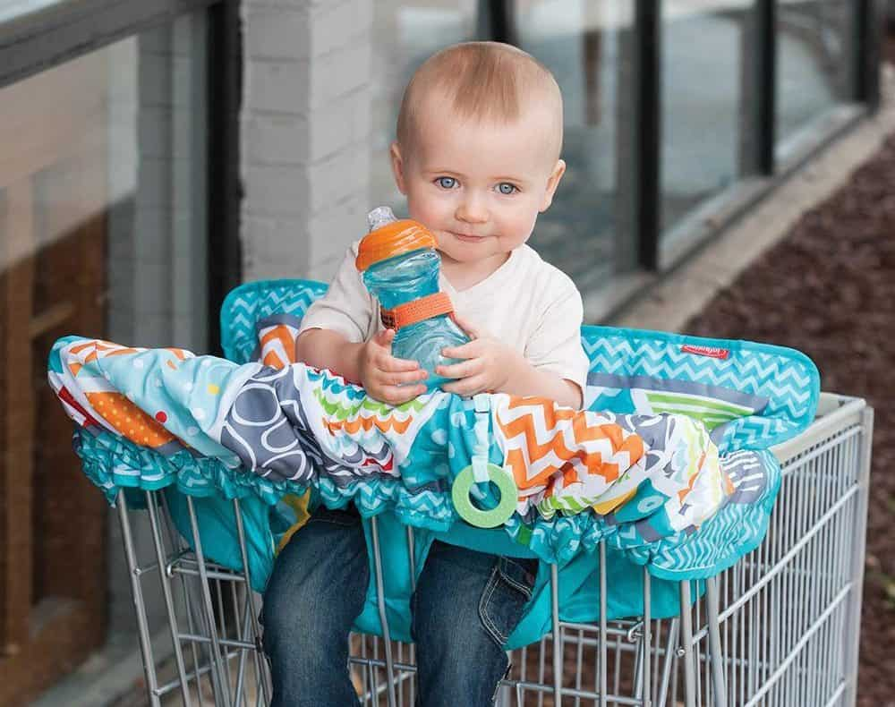 Young Boy on Shopping Cart Cover