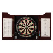 Hathaway Counterpoint Wood Dart Board and Cabinet